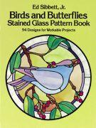 Birds & Butterflies Stained Glass Book