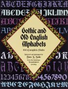 Gothic and Old English Alphabet Book