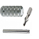 """T316 Stainless Steel 1-3 Diamond Tip with Tube and 7/8"""" Grip"""