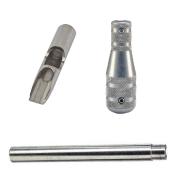 "Stainless Steel 11 Flat-Shovel Tip, Tube and 3/4-1/2"" Taper Grip"