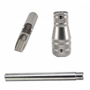 "Stainless Steel 11 Flat Shovel Tip, Tube and 1-3/4"" Taper Grip"