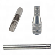 "Stainless Steel 13 Flat-Shovel Tip, Tube and 3/4-1/2"" Taper Grip"