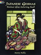 Japanese Geishas Stained Glass Book