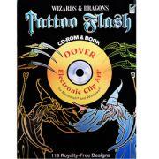 Wizards & Dragons Tattoo Flash CD/Book