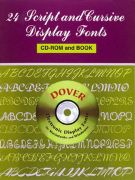 24 Script & Cursive Font Book with CD