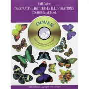 Decorative Butterfly Illustrations Book w/CD
