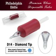 "Eddie's 14 Diamond Tip Disposable Tube - 1.25"" Soft Red Grip"