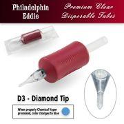 "Eddie's 3 Diamond Tip Disposable Tube - 1.25"" Soft Red Grip"