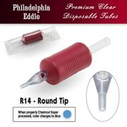 "Eddie's 14 Round Tip Disposable Tube - 1"" Soft Red Grip"