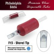 "Eddie's 15 Flat Shovel Tip Disposable Tube - 1.25"" Soft Red Grip"