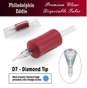 "Eddie's 7 Diamond Tip Disposable Tube - 1"" Soft Red Grip"