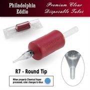 "Eddie's 7 Round Tip Disposable Tube - 1"" Soft Red Grip"