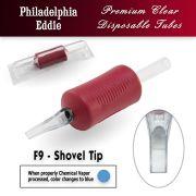 "Eddie's 9 Flat Shovel Tip Disposable Tube - 1.25"" Soft Red Grip"
