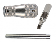 """Stainless Steel 4-5 Flat-Closed Tip, Tube and 1-3/4"""" Taper Grip"""