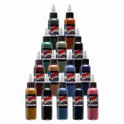 Mom's Inks' 14 Bottle Earth Tone Color Set