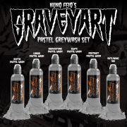 World Famous Nuno Feio Graveyart Pastel Greywash Set