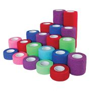 "Self-Adherent Grip Wrap Rainbow-2""x 5"" Yard Roll-Box of 36"