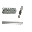 """T316 Stainless Steel 4-5 Flat-Open Tip, Tube and 1-3/4"""""""" Taper Grip"""