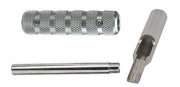 """T316 Stainless Steel 4-5 Flat-Open Tip, Tube and 1/2"""" Grip"""