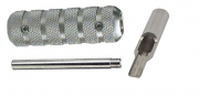 """T316 Stainless Steel 4-5 Flat-Open Tip with Tube and 5/8"""" Grip"""