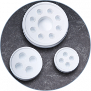 Ink Cap Tray Combo-3 Sizes-30 Pack
