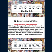 TATTOO MEDIA INK MIX OF MAGAZINES – 6 ISSUE SUBSCRIPTION