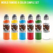 World Famous 6 Simple Color Set