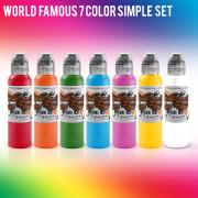 World Famous Simple 7 Color Set 1/2 oz